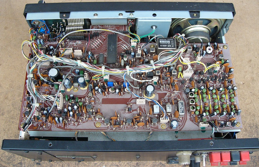 yaesu frg 7  the first thing i found was the local dx switch had fallen apart, not uncommon with those little slider switches replaced it with a small toggle switch and